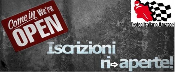 RI-APERTE LE ISCRIZIONI AL TROFEO ITALIANO AMATORI