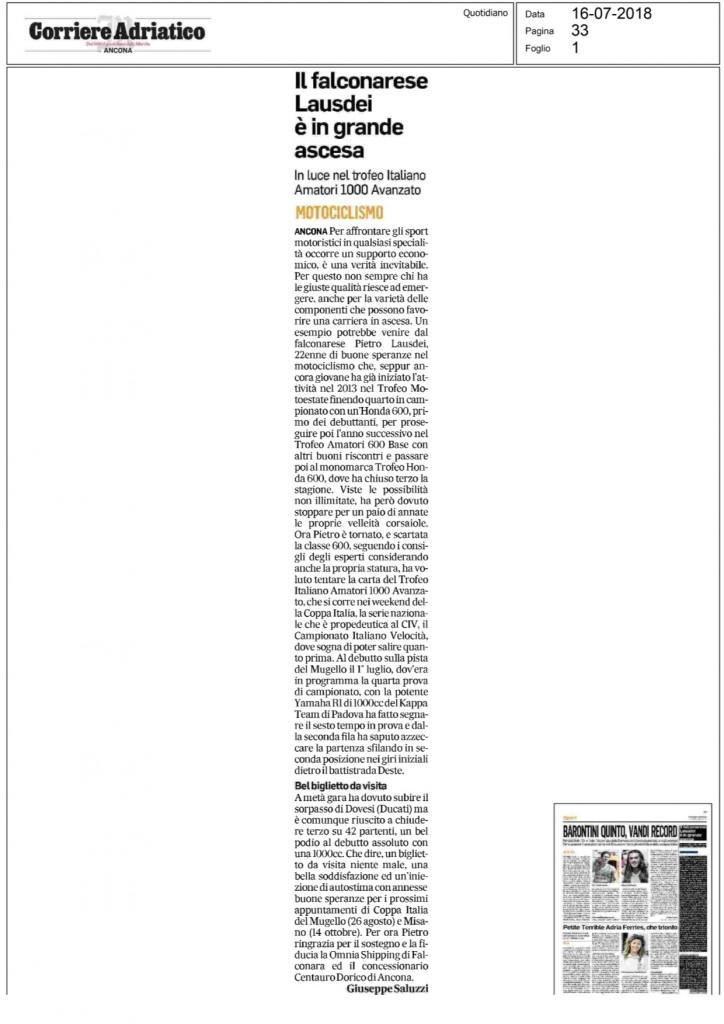 16.07.2018 corriere adriatico