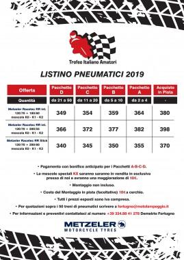 Offerta Pneumatici Metzeler per Trofeo Italiano Amatori