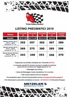 Offerta Prezzi Pneumatici per il Trofeo Italiano Amatori