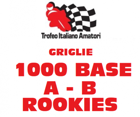Elenco Piloti Griglia 1000 Base A , 1000 Base B e Rookies