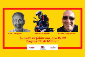 Lunedì 22, alle 15.00, su Facebook, in diretta sulla pagina di Moto.it